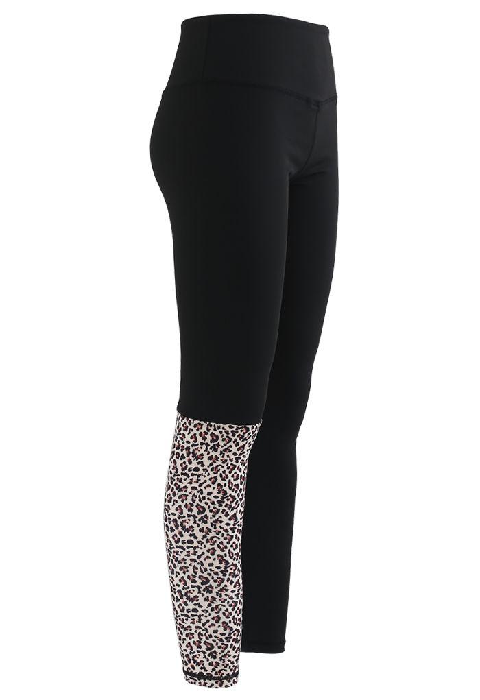 Animal Print Low-Impact Sports Bra and Ankle-Length Leggings Set