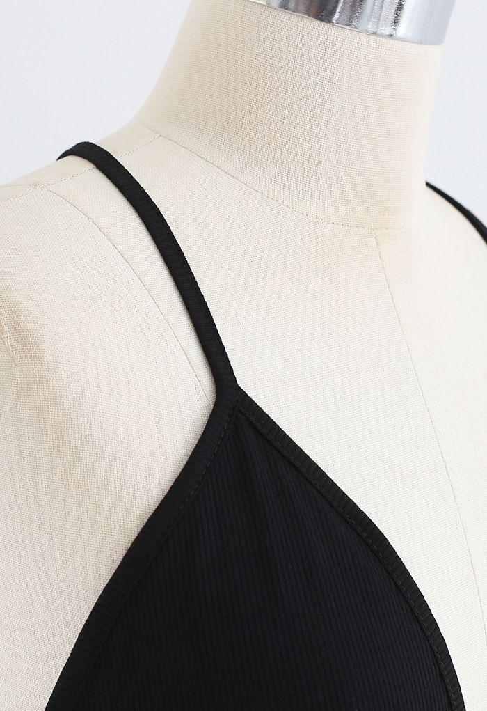 Tie-Back Cutout High Leg One-Piece Swimsuit