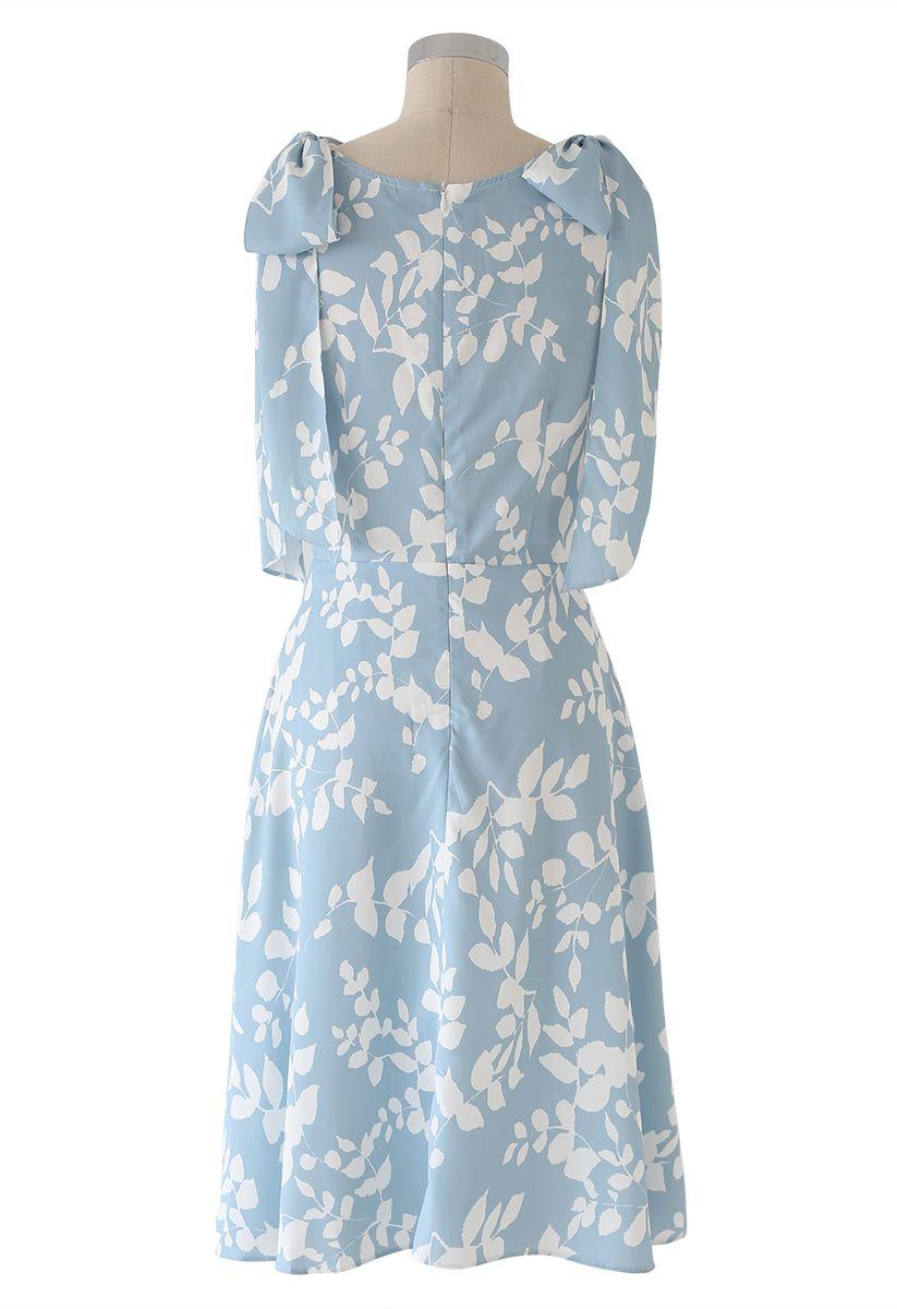 Shadow of Leaves Printed Cami Dress