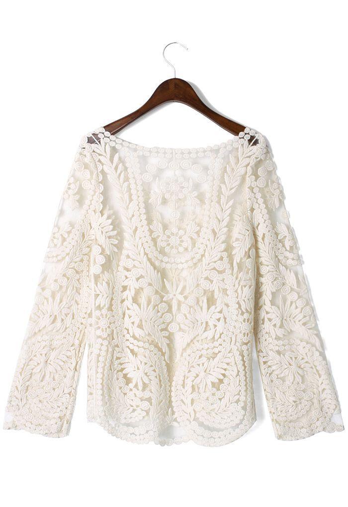 Delicacy Crochet Top