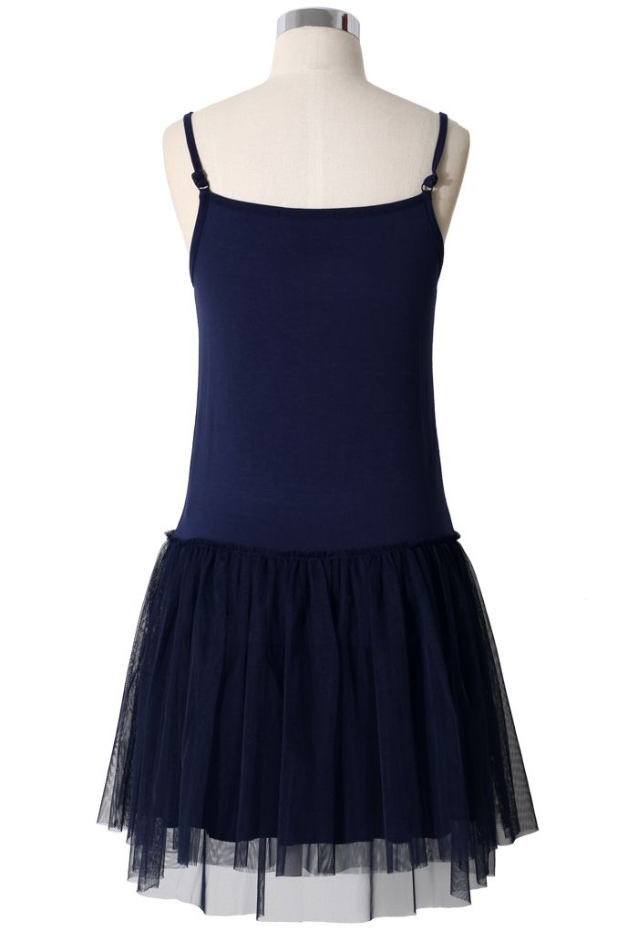 Ballet Tulle Dress in Navy Blue