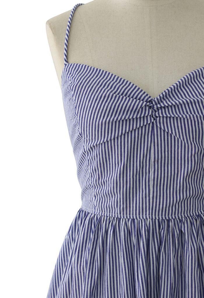 Marine Adjustable Tie Back Dress