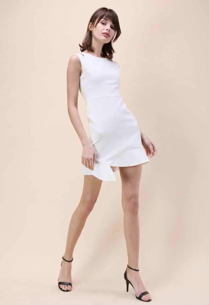The Epitome of Grace Sleeveless Dress in White