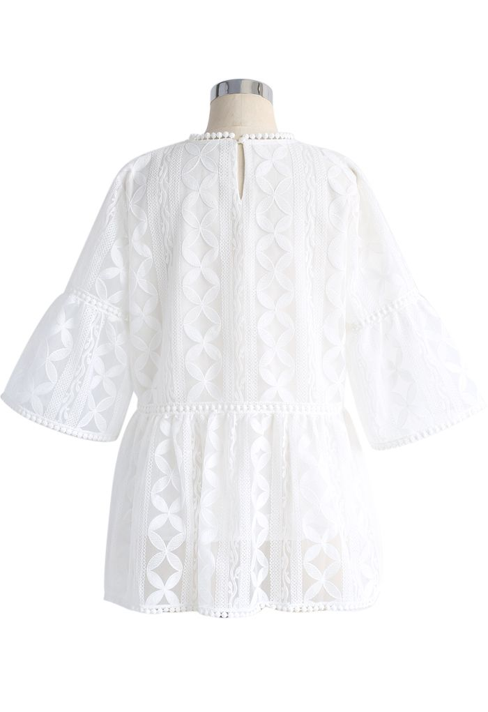 Summer Lovin' Embroidered Dolly Top