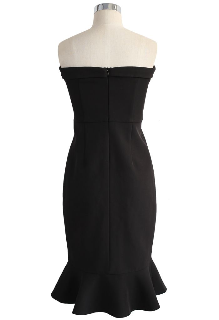 Simple Sophistication Strapless Body-con Dress in Black