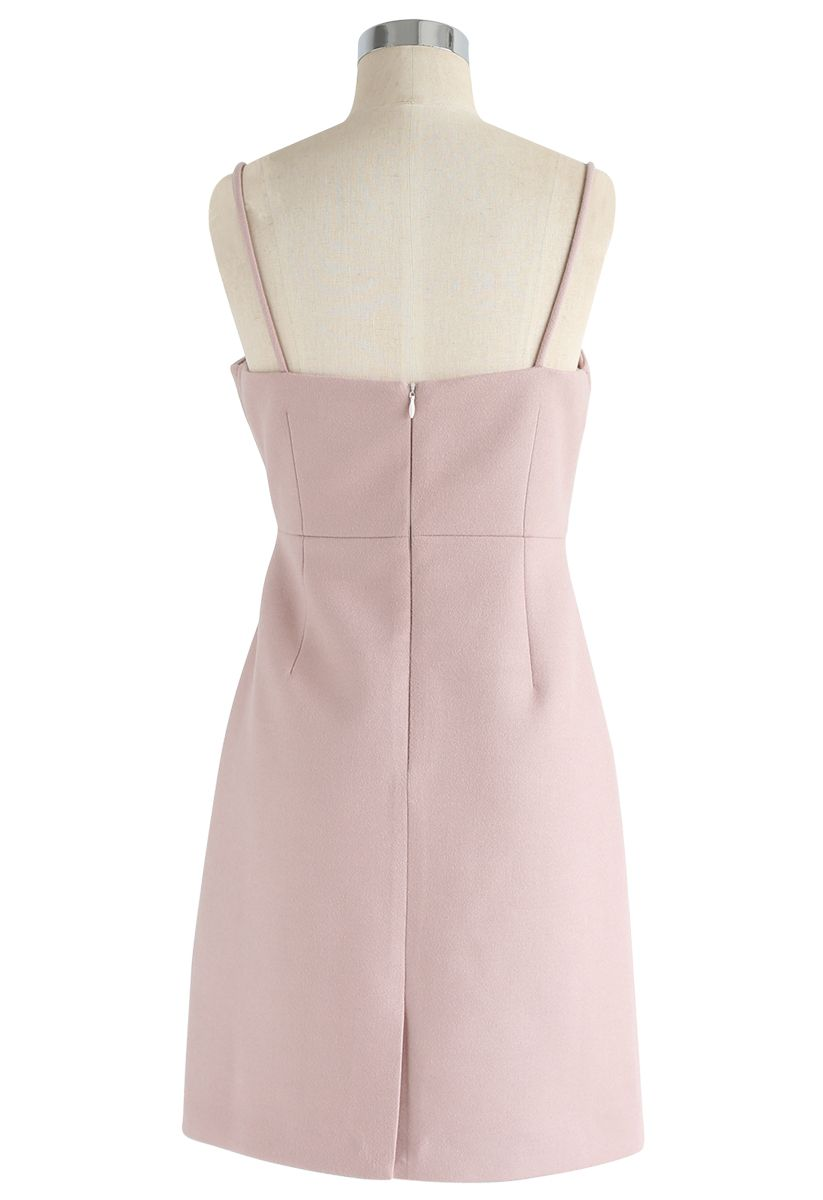 Ready or Knot Cami Dress in Pink