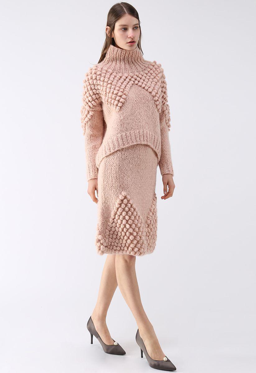 As Peppy As You Are Pom-Pom Turtleneck Sweater