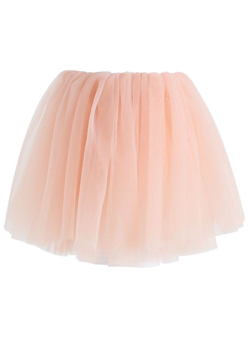 Amore Mesh Tulle Skirt in Pink For Kids