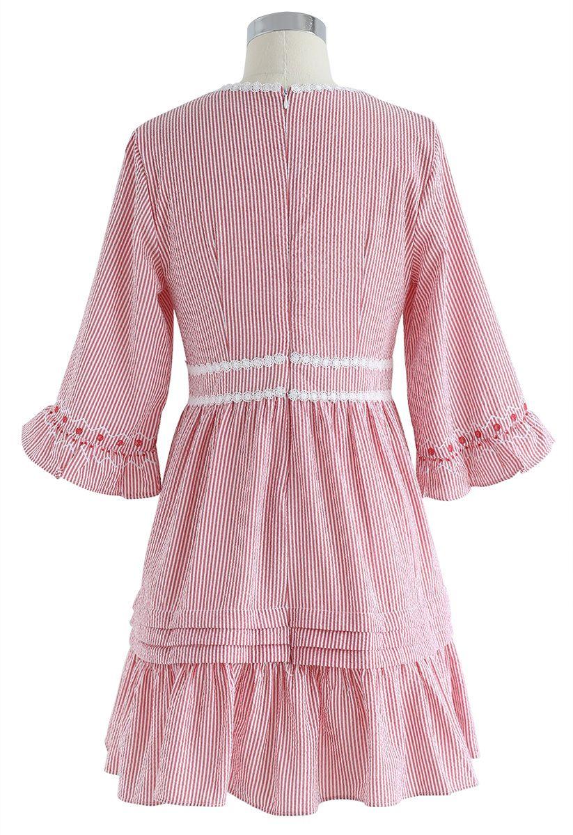 Garden Dweller V-Neck Stripe Dolly Dress