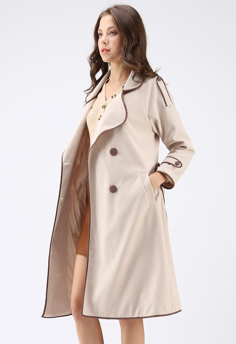 What You Expect Double-Breasted Coat in Apricot