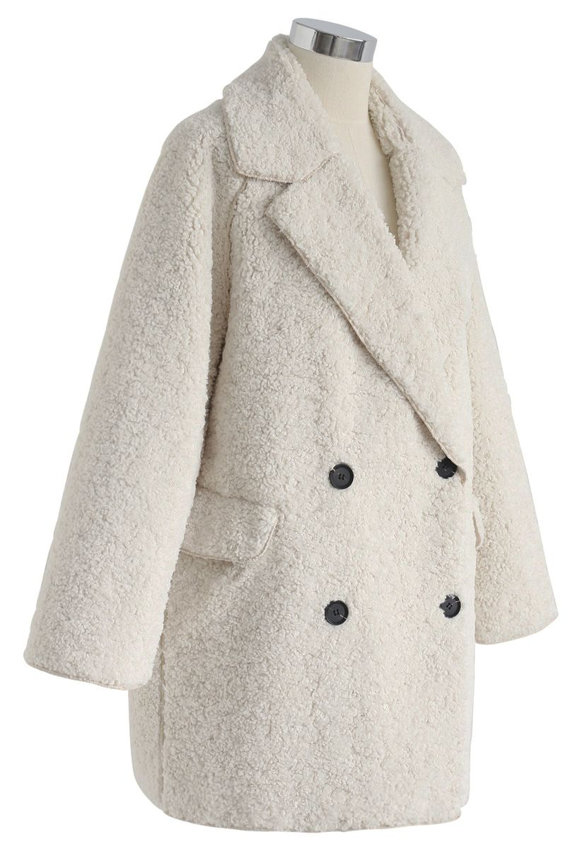 Out with A Sherpa Coat in Ivory