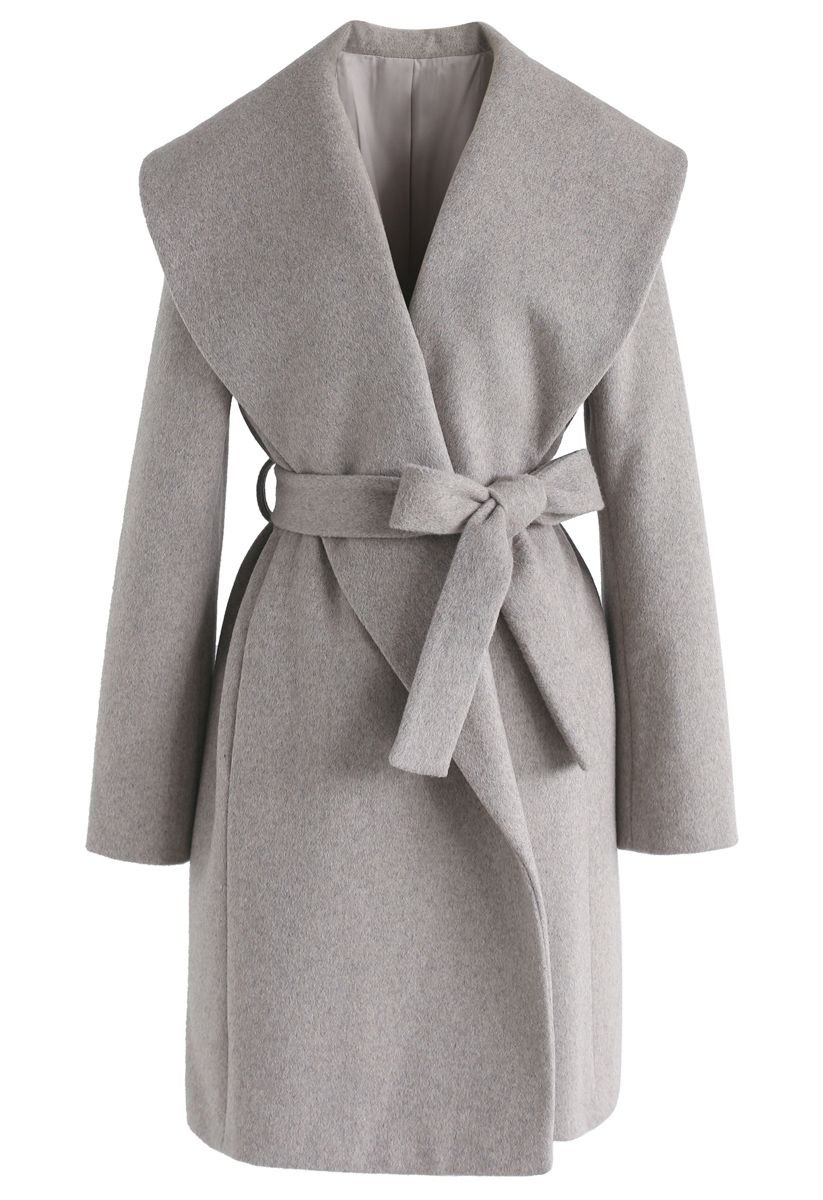 Dream with You Open Front Wool-Blended Coat