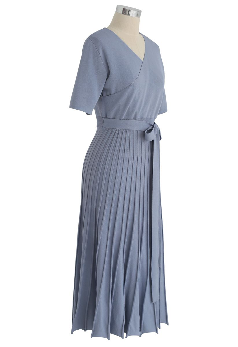 Effortless Charming Knit Dress in Blue