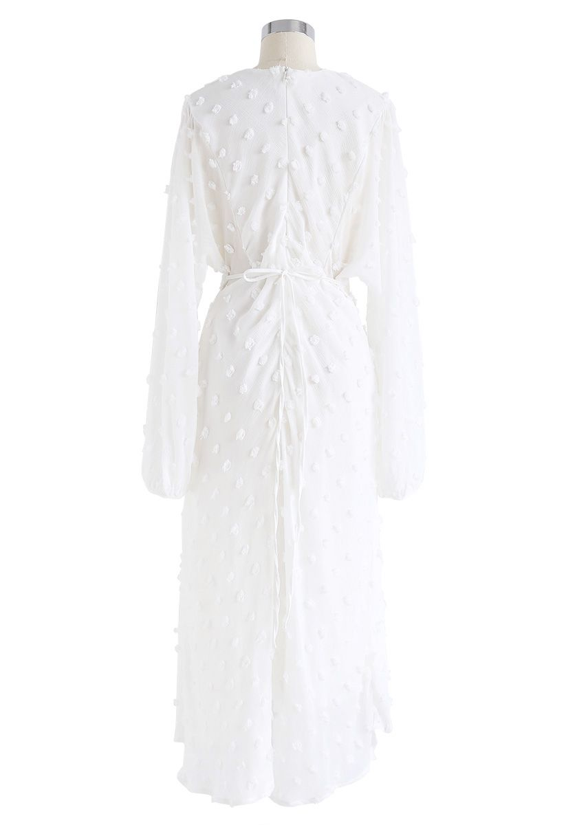 Cotton Candy Sheer Maxi Dress in White