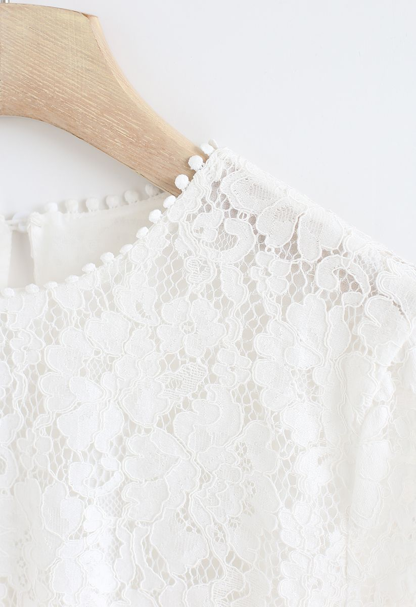 Everyday Fit Full Lace Top in White
