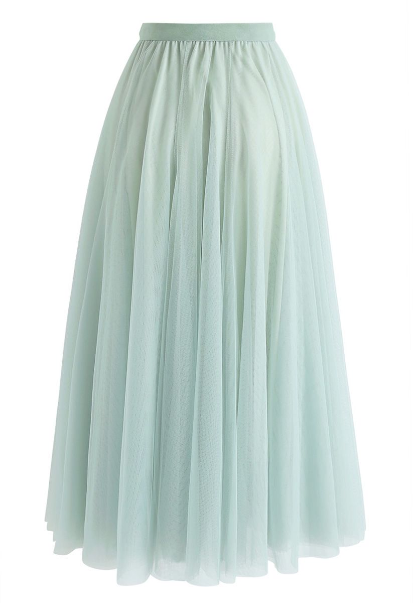 My Secret Weapon Tulle Maxi Skirt in Mint