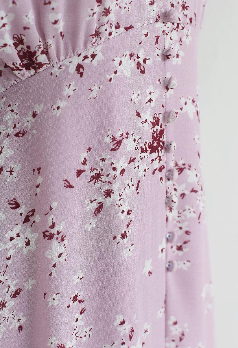 Amazing Grace Floret Chiffon Dress in Pink