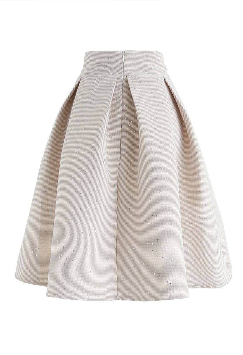 Sweet Your Heart Bowknot Sequins Pleated Skirt