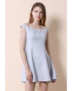 Grey Devotion Off-shoulder Dress