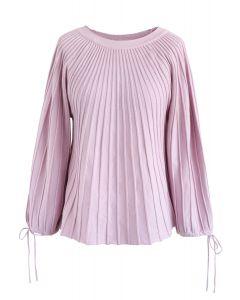 Sugary Puff Radiating Stripe Sweater in Pink