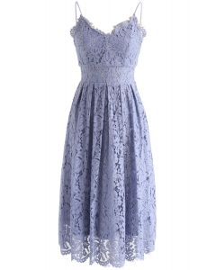 Spirit of Romance Lace Cami Dress in Lavender