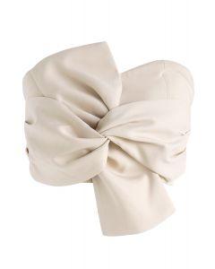 Sweet Knot Bustier Top in Cream