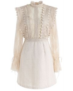 Ready for the Date Lace Crochet Dress in Cream