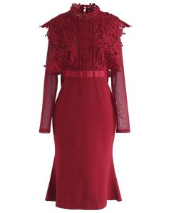 For a Better Day Crochet Dress in Red