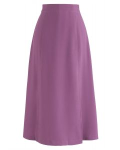 Shock Me into Love A-Line Skirt in Violet