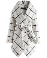 Prairie Grid Rabato Coat in White