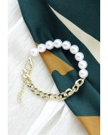 Chain and Pearl Bracelet